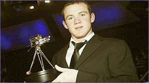 Wayne Rooney receives the Sports Personality award