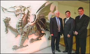Glanmor Griffiths, David Moffett and David Pickering