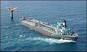 Oil tanker loading up