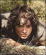 Frodo Baggins, played by Elijah Wood