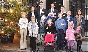 The children at Downing Street