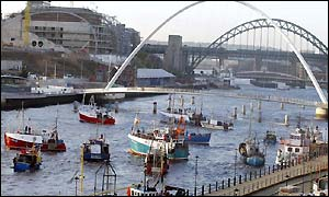 Flotilla on the River Tyne