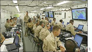 US military wargamers in Qatar