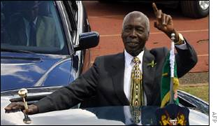 Daniel Arap Moi at ceremony marking 39th anniversary of Kenyan independence
