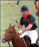 Prince Charles playing polo