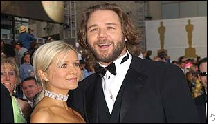 Russell Crowe and girlfriend Danielle Spencer