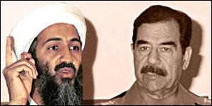 Osama Bin Laden and Saddam Hussein