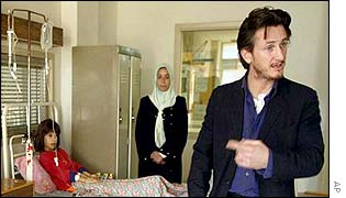 Sean Penn in Baghdad children's hospital