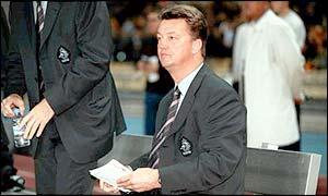 Barcelona coach Louis van Gaal
