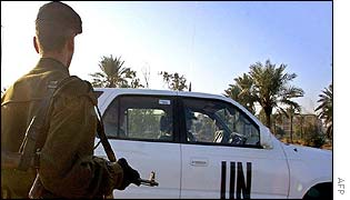 UN inspectors leave HQ in Baghdad