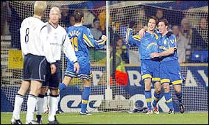 Robbie Fowler scored for Leeds at Bolton