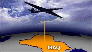 Plane/Iraq graphic