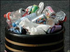 Photograph of litter bin