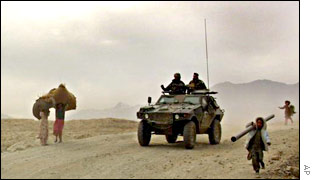 French patrol in Kabul