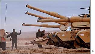 US tanks in Kuwait