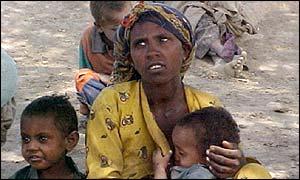 Ethiopian famine victim