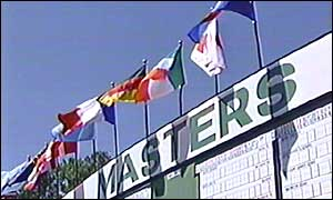 Scoreboard at the US Masters