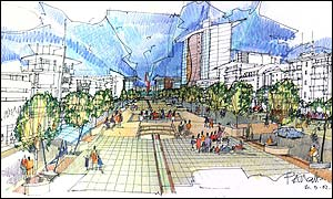 An artist's impression of the waterside scheme