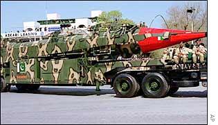 Pakistan's Ghauri ballistic missile
