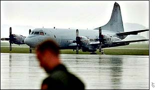US Air Force plane lands in Okinawa