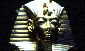 Tutankhamen death mask