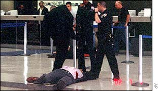 Body of gunman shot by El Al air marshals