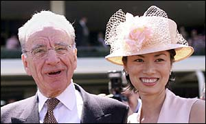 Mr Murdoch with his third wife, Wendi Deng