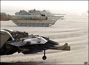 US tanks in Kuwait
