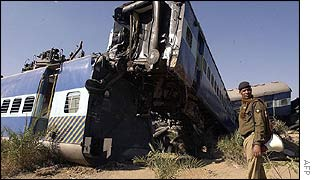 Scene of the crash in Kurnool district, Andhra Pradesh