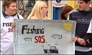 Fish protest