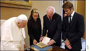 The royals meet the Pope at the Vatican