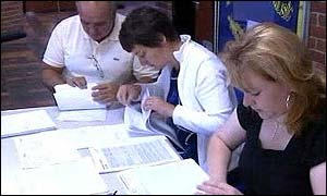 school sorting out exam results