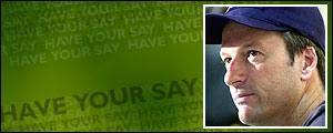 Australia's cricket captain Steve Waugh
