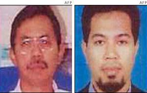 Malaysian terror suspects Doctor Azahari (L), and Noordin Mohammad Thob (R)