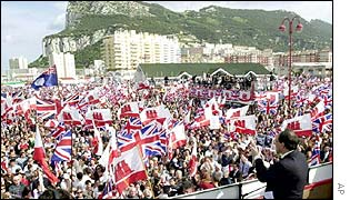 Residents demonstrate on Gibraltar