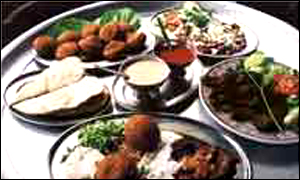 Selection of African dishes