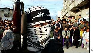 Al-Aqsa Martyr's Brigades demonstration