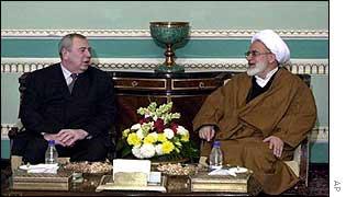 Alexander Rumyantsev meets Iran's parliamentary speaker, Mehdi Karrubi