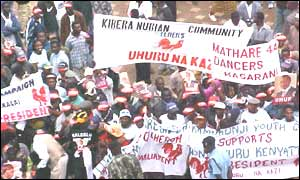 Kanu rally in Kenya