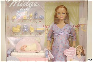 The pregnant version of Midge, Barbie's oldest friend