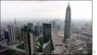 The 88-story Jin Mao Tower stands as a new symbol of Shanghai