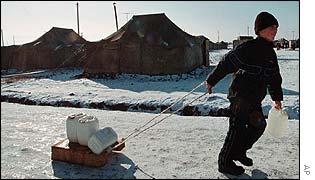 Refugee child in Sleptsovsk, Ingushetia
