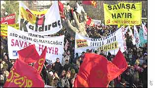 Anti-war demonstration in Ankara