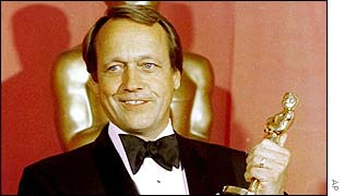 George Roy Hill with his directing Oscar for The Sting
