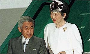 Emperor Akihito and his wife Shoda Michiko