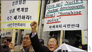 Anti-North Korea protesters in Seoul