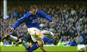 Wayne Rooney was making his Premiership start for Everton