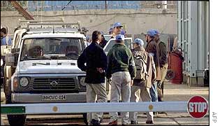 Weapons inspectors in Iraq