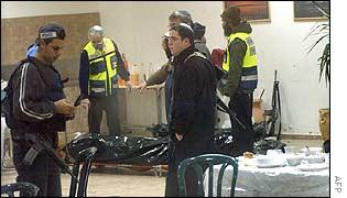 Israeli investigators at scene of fatal attack in West Bank settlement on Friday