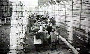 Jews in a Nazi concentration camp